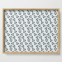 Irregular Dots, White And Black Serving Tray