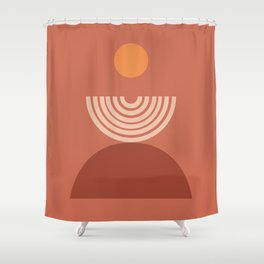 abstract series three (terra) Shower Curtain