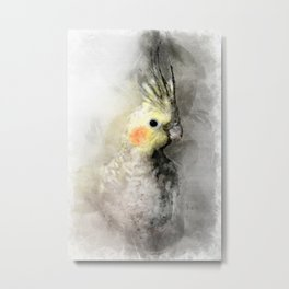 Portrait of a cockatiel Metal Print