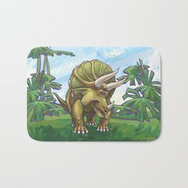 Animal Parade Triceratops Bath Mat