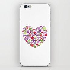 Colourful Hearts iPhone & iPod Skin