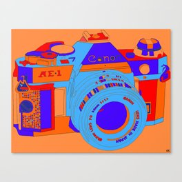 Camera Snap Canvas Print