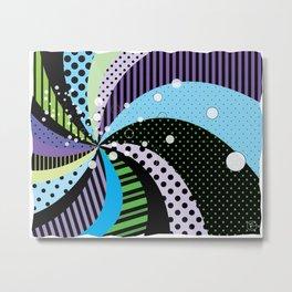 Stripes and Polka Dots Graphic Art Metal Print