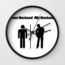 My Husband Love Guitar - Guitar Player Wall Clock