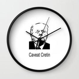 Caveat Cretin Wall Clock