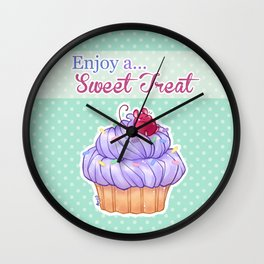 Cupcake Mouse Wall Clock