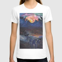 Mountain Sunrise after Fishing nautical landscape painting by Marianne von Werefkin T-shirt