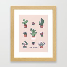 I Love Succulents Framed Art Print
