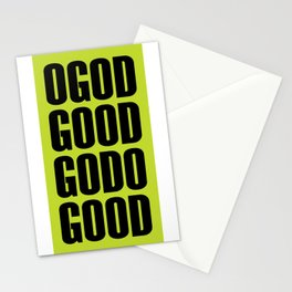 O God Good Go Do Good Stationery Cards