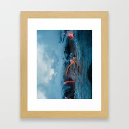 Swim With No Danger Framed Art Print