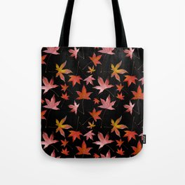 Dead Leaves over Black Tote Bag