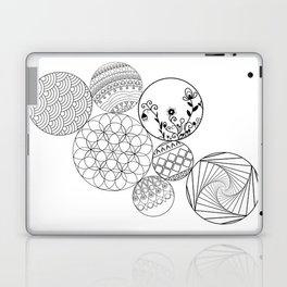 Mandalas, circles and flowers Laptop & iPad Skin