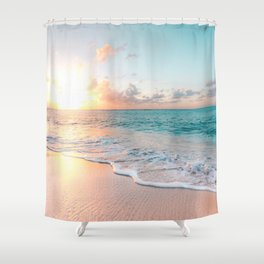 Pink Sea Shower Curtain