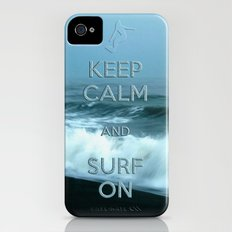 Keep calm and surf on  Slim Case iPhone (4, 4s)