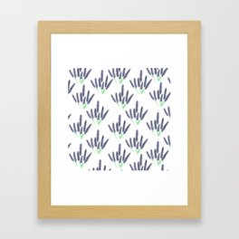 lavender pattern Framed Art Print