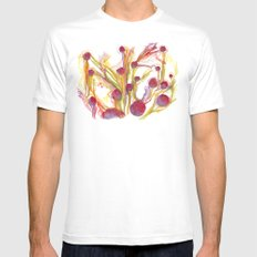 Iceland Abstracted #40 MEDIUM White Mens Fitted Tee