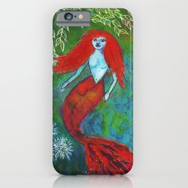 Orange You Glad To Be A Mermaid iPhone Case