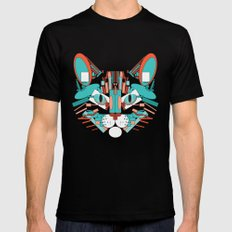 Cubist Cat Black MEDIUM Mens Fitted Tee
