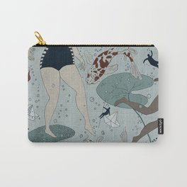 Swimmers with koi Carry-All Pouch