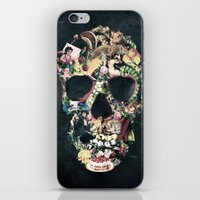 instagram iPhone & iPod Skins featuring Vintage Skull by Ali GULEC