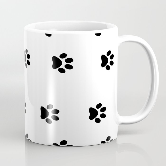 Cat Paws Unite Black And White Art Coffee Mug