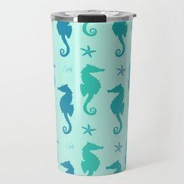 AFE Mint Seahorse Pattern Travel Mug