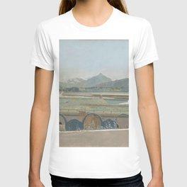 Jean-Etienne Liotard - Uitzicht op het Mont Blanc-massief vanuit het atelier van de kunstenaar te Ge T-shirt