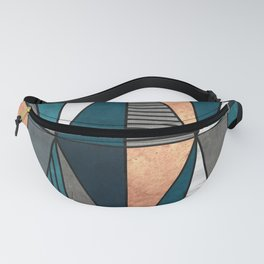 Copper, Marble and Concrete Triangles with Blue Fanny Pack