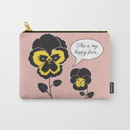 Pink Pansy Conversation Carry-All Pouch