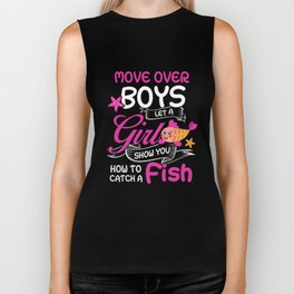 How To Catch A Fish Move Over Boy Let A Girl Show You TShirt Biker Tank