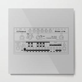 Roland TB-303 Bass Line Wireframe Metal Print