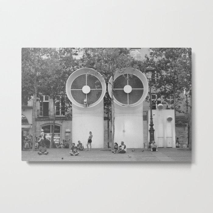 PEOPLE OF PARIS Metal Print