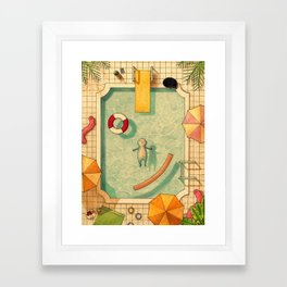 Pool Thoughts Framed Art Print