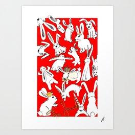 The Favourite - Rabbits - Alternative Movie Poster Art Print