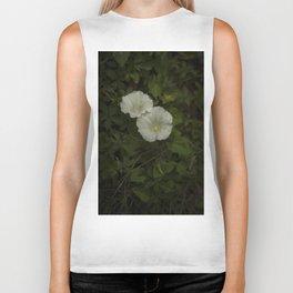 White wild flowers Biker Tank