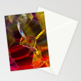 Colorful Bubbles Stationery Cards