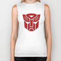 transformers Biker Tanks featuring Transformers by tshirtsz