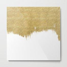 White & Gold Metal Print