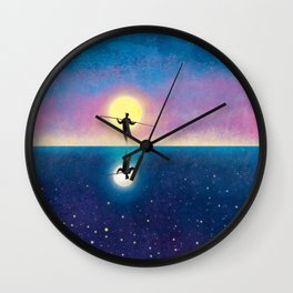 The Tightrope Walker 2 Wall Clock