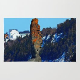 Stone Tower by the Frozen Sea Rug