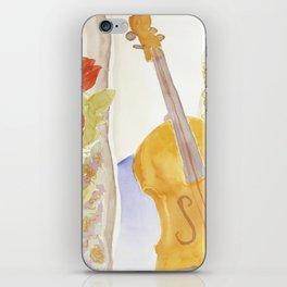 Violin and Roses iPhone Skin
