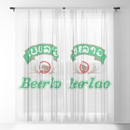 Beer Lao Sheer Curtain