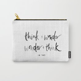 Think and Wonder, Wonder and Think Dr. Seuss Watercolor Print Carry-All Pouch