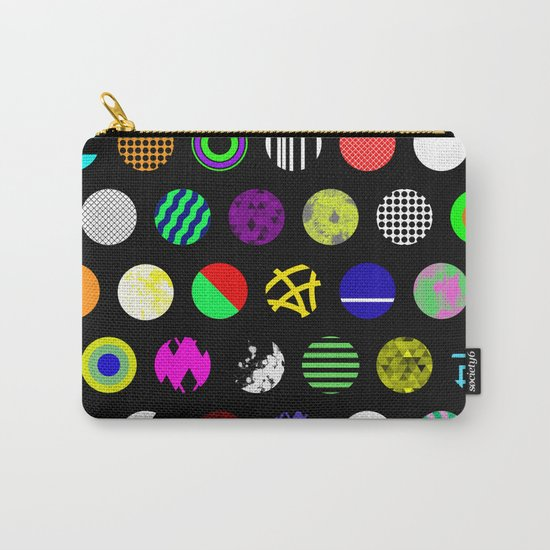 Eclectic Circles - Abstract collage of random, colourful, bold, eclectic circles Carry-All Pouch