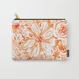 BIG SUNSHINE Orange Watercolor Floral Carry-All Pouch