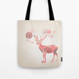 Flower deer Tote Bag