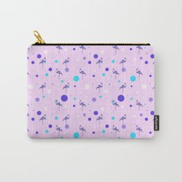 Flamingo Full Pttern in Pink    Bird Illustration    Birdies Collection Carry-All Pouch