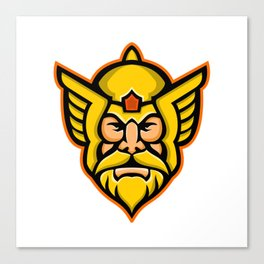 Thor Norse God mascot Canvas Print