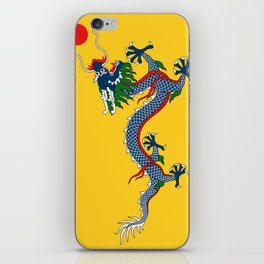 Chinese Dragon - Flag of Qing Dynasty iPhone Skin