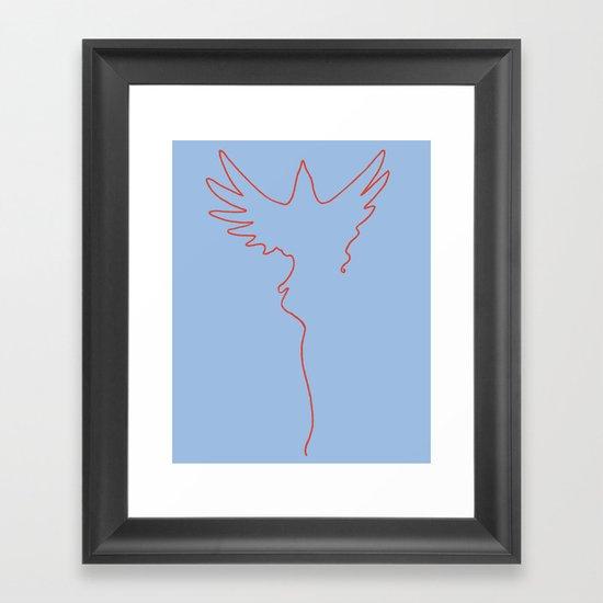 Yarning To Be Free Framed Art Print